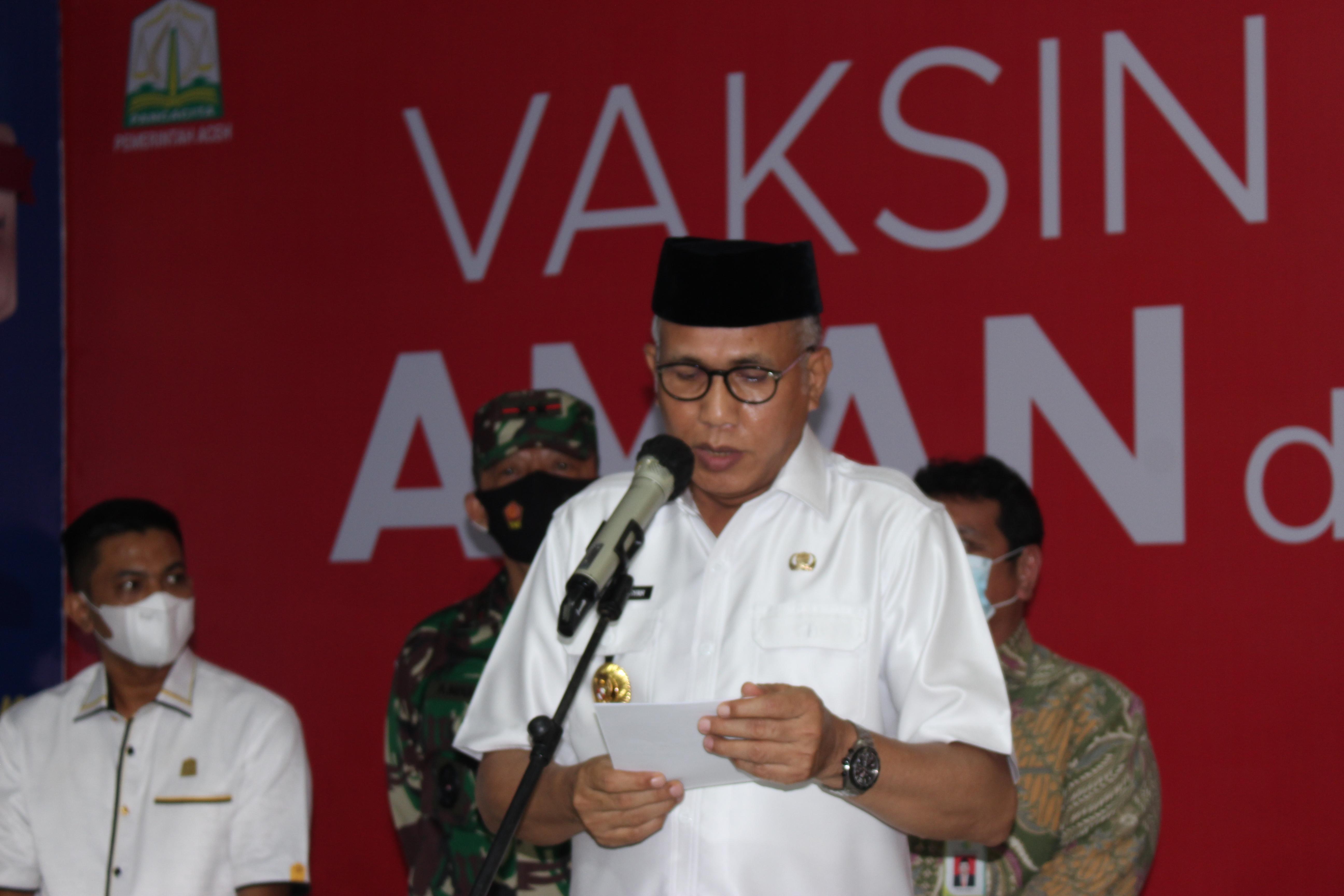Gubernur Aceh : Kalau Rakyat Tolak Vaksin Ada UU yang Lindungi